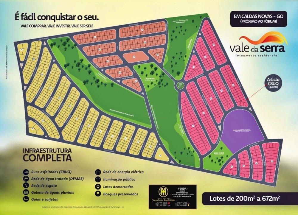Terreno/Lote à venda  no Estancia Boa Vista - Caldas Novas, GO. Imóveis